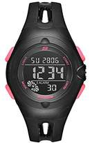 Skechers Women's 'Open Center Strap Digi' Quartz Plastic and Polyurethane Casual Watch, Color:Black (Model: SR2078)