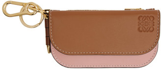 Loewe Tan and Pink Mini Gate Coin Pouch