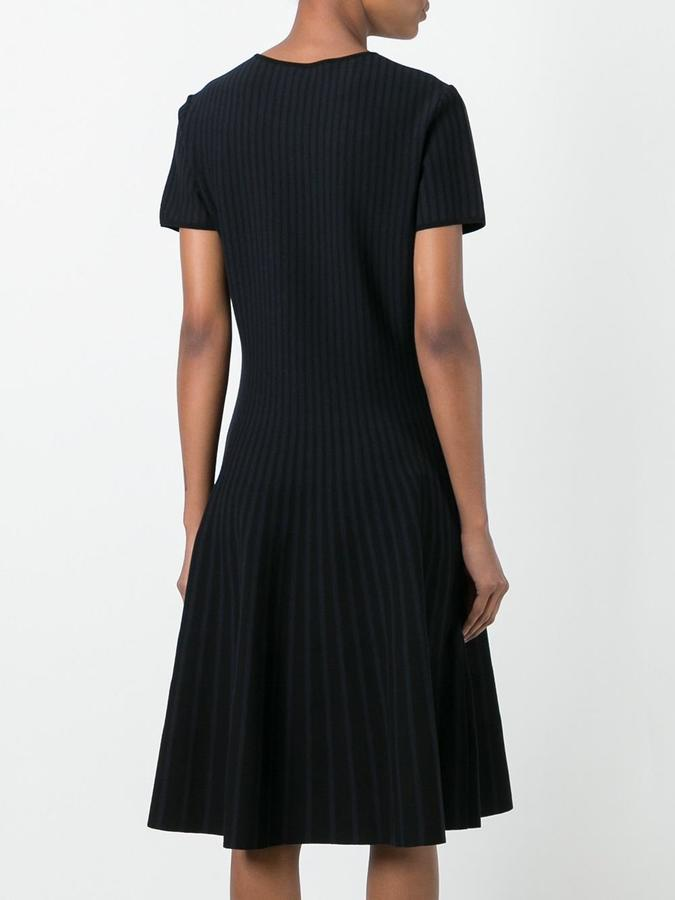 Tomas Maier striped faded effect dress