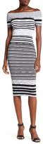 XOXO Off-the-Shoulder Knit Sheath Dress