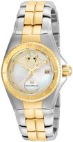 Technomarine Women's Gold-Tone Steel Bracelet & Case Swiss Quartz White Dial Watch 115190