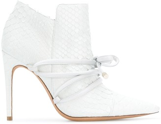 Alexandre Birman tie detail heeled booties