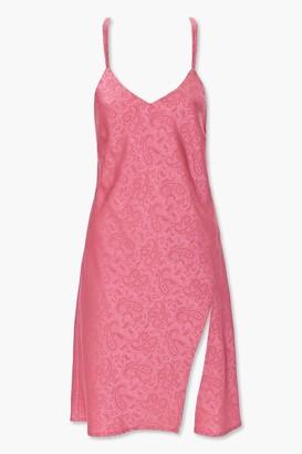 Forever 21 Satin Paisley Print Dress