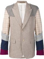Comme des Garcons plaid contrast sleeve blazer