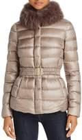 Herno Fox Fur Short Down Coat