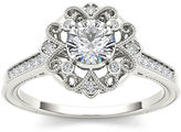 MODERN BRIDE 1/2 CT. T.W. Diamond 14K White Gold Engagement Ring