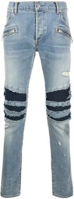 Balmain ripped slim-fit jeans
