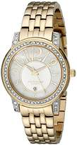 Akribos XXIV Women's AK586YG Lady Diamond Stainless Steel Sparkle Mother-Of-Pearl Quartz Watch