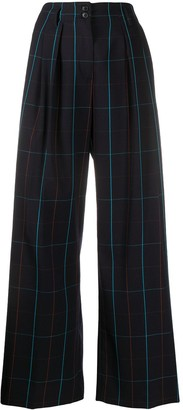 Paul Smith Grid-Pattern Wide Trousers