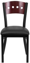 Lomonaco Side Chair Winston Porter Color: Mahogany/ Black Vinyl Seat