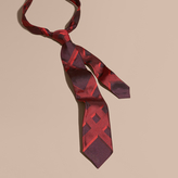 Burberry Modern Cut Check Jacquard Silk Tie