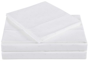 Charisma Closeout! Classic Cotton Sateen 310 Thread Count 4-Pc. Dot California King Sheet Set Bedding