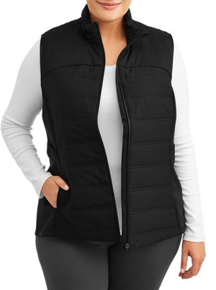 Avia Women's Plus Size Active Lightweight Quilted Vest with Pockets