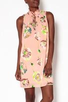 Entro Peach Floral Dress