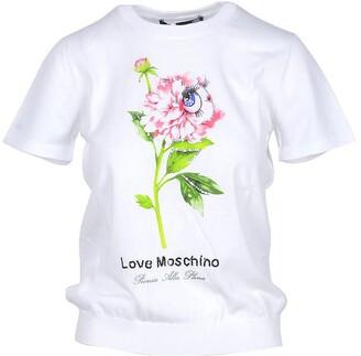 Love Moschino White Cotton Women's T-shirt