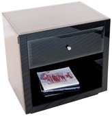 The Well Appointed House Worlds Away Farrah Black Glass Nightstand