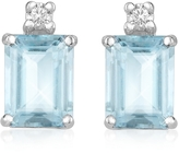 Tagliamonte Incanto Royale Aquamarine and Diamond 18K Gold Earrings