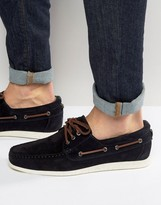 BOSS ORANGE by Hugo Boss Deck Suede Boat Shoes