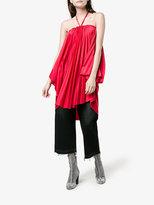 Balenciaga Pleated Halterneck Dress