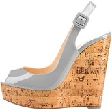 MERUMOTE Women's Y-044 Wedge Heel Peep Toe Platform Buckles Wedding Sandals For Party 10 US