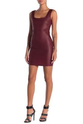 OOBERSWANK Scoop Neck Seam Detail Mini Dress