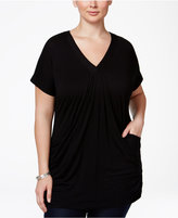 INC International Concepts Plus Size V-Neck Tunic
