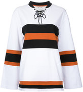 The Upside lace-up neck sweatshirt - women - Cotton - XS