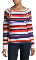Lord & Taylor Multicolored Stripe Top