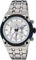 Titan Men's 'Octane AW' Quartz Stainless Steel Casual Watch, Color:Silver-Toned (Model: 90030KM02)