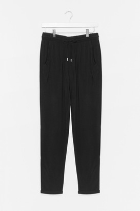 Nasty Gal Womens Loosey Goosey Baby Jogger trousers - Black - 4, Black
