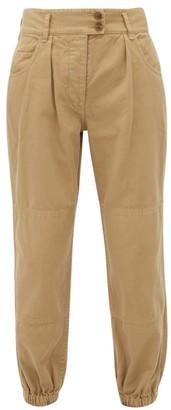 Nili Lotan High-rise Cotton Trousers - Womens - Beige