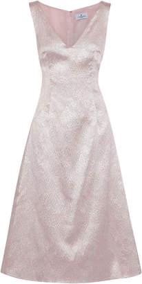J. Mendel J.mendel Crinkled Satin-jacquard Midi Dress