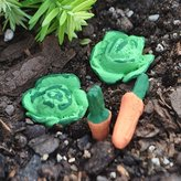 jeremie Miniature Fairy Garden Cabbage Patch Veggies, Set of 4