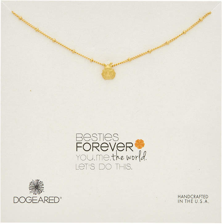 Dogeared Make A Wish 14K Over Silver Ladybug Necklace
