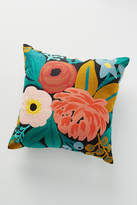 Rifle Paper Co. x Loloi Vintage Blossoms Embroidered Pillow