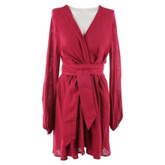 Kalita Red Cotton Dresses