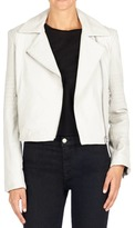 J Brand Aiah Leather Jacket in White