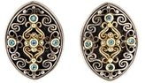 Konstantino Two-Tone Blue Topaz Earrings