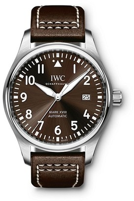 IWC Pilot Mark XVIII Antoine de Saint Exupery Stainless Steel & Leather Strap Watch