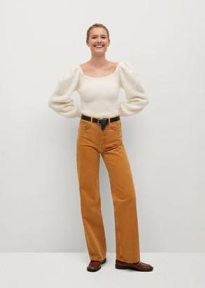 MANGO Puffed sleeves sweater ecru - S - Women
