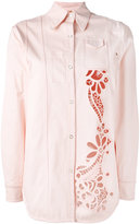 No.21 cutout shacket - women - Cotton/Spandex/Elastane - 40