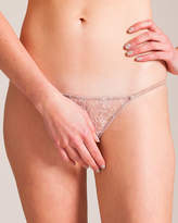 Carine Gilson Rose's Lace and Silk Panty