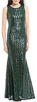 B. Darlin Open Back Sequin Long Dress