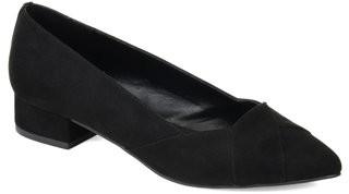 Brinley Co. Womens Crisscross Low Heel Loafer