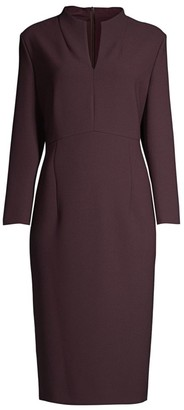 HUGO BOSS Dabara Structured Pique Jersey Mockneck Dress