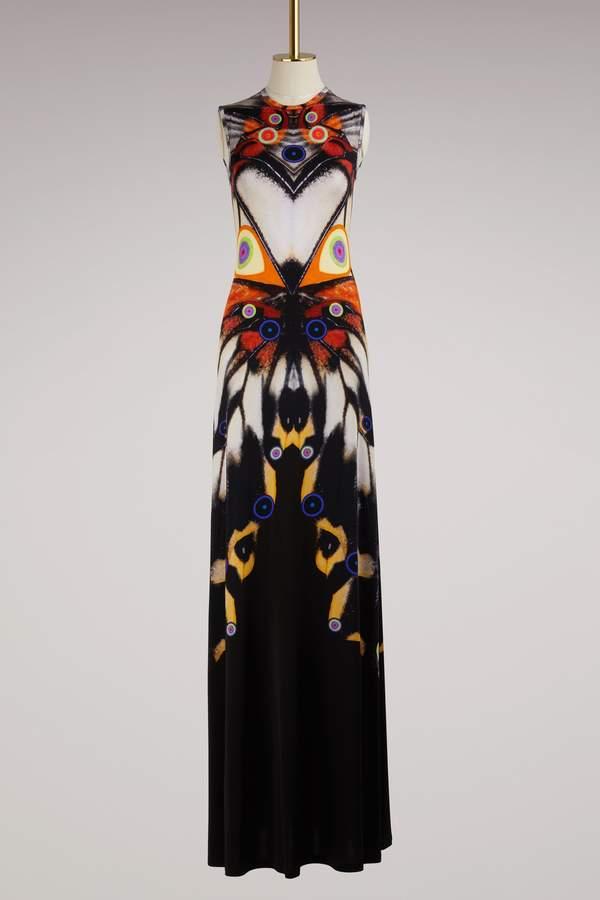 Givenchy Butterfly Long Jersey Dress