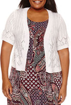 Robbie Bee Elbow Sleeve Shrug-Plus
