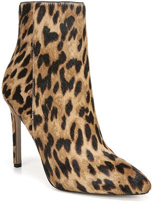 Sam Edelman Wren Leopard Print Genuine Calf Hair Bootie