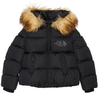 DSQUARED2 Hooded Nylon Down Jacket W/ Faux Fur