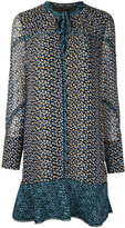 Proenza Schouler asymmetrical printed dress - women - Silk - 10
